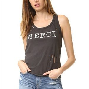 Sundry distressed  Merci tank size 1. Listed as 2
